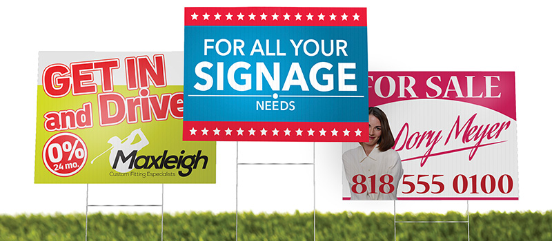 Lawn Signs Mississauga - LOGO PRINT