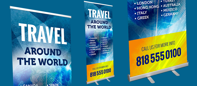Pull Up Banners - LOGO PRINT