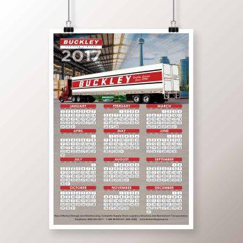 Buckley Cartage - Calendar - Logo Print