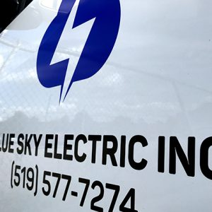 Vehicle Lettering for Blue Sky Electric Inc. by LOGO PRINT