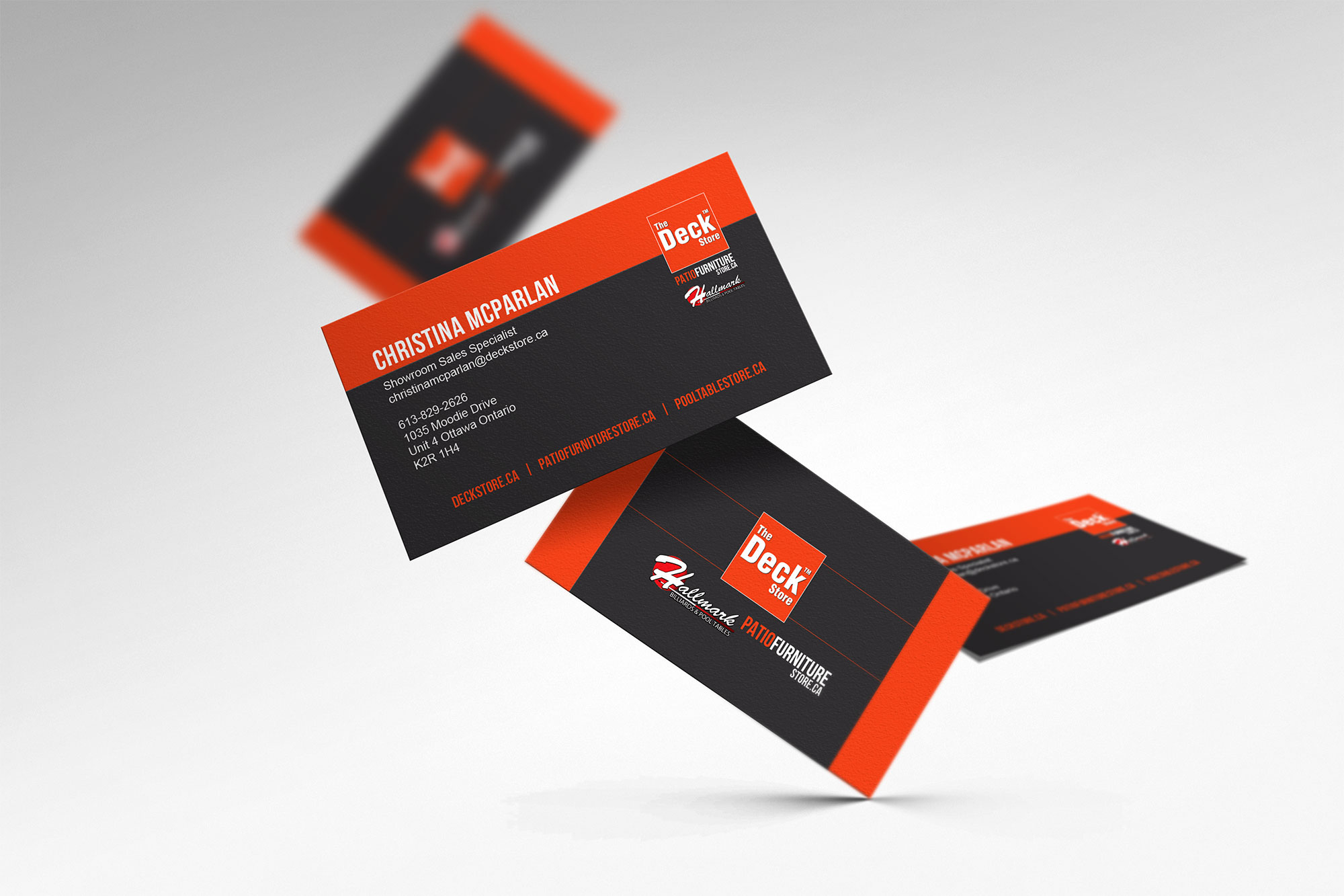 Business card designs logo print deck store business cards reheart Images
