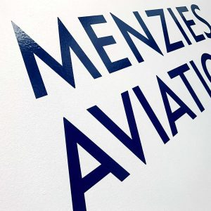 Menzies Aviation Office Signage by LOGO PRINT