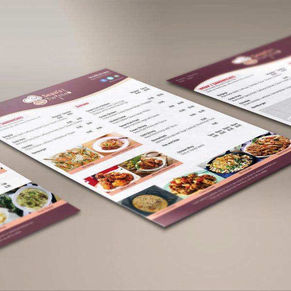Sean's Twisted Restaurant Menu Design and Print