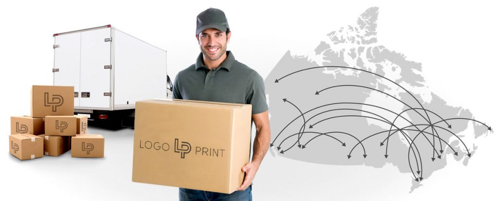 Free Shipping across Canada by Logo Print