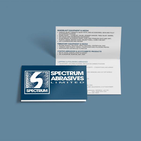 Spectrum Abrasives Limited - Folded Business Card