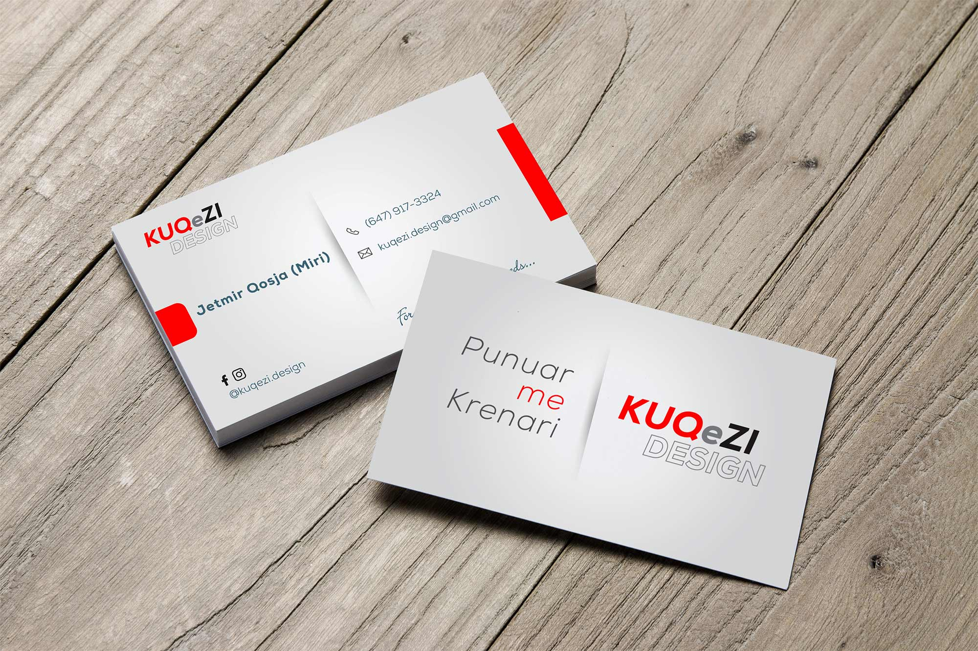 Business card designs logo print kuq e zi design business cards reheart Images